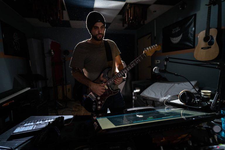 Raz Klinghoffer recording studio guitar 2 2